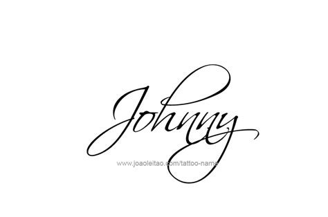 johnny name designs