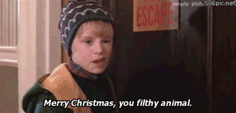 Merry Christmas Ya Filthy Animal Meme - not funny gif find share on giphy