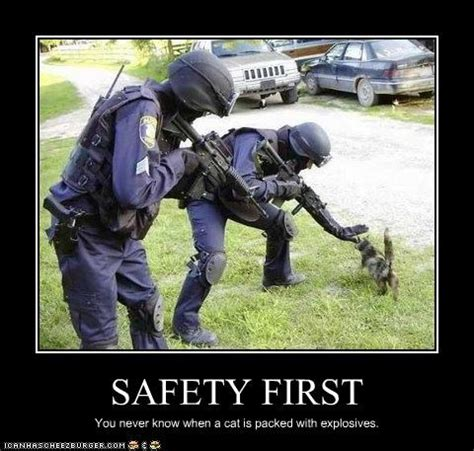 safety first funny poster