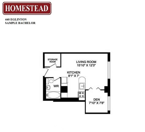bachelor apartment floor plan 440 eglinton apartments homestead
