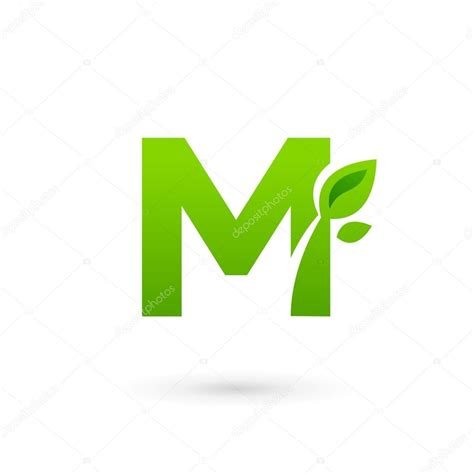 letter eco leaves logo icon design template elements
