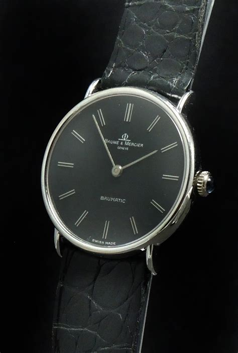 Baume Mercier Original Automatic baume mercier baumatic automatic white gold black