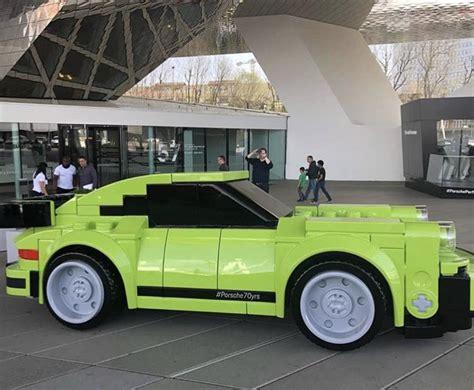 porsche life size porsche unveils life size 911 turbo the luxury