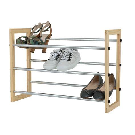 3 tier shoe storage stand flexi storage 3 tier extendable shoe rack bunnings warehouse