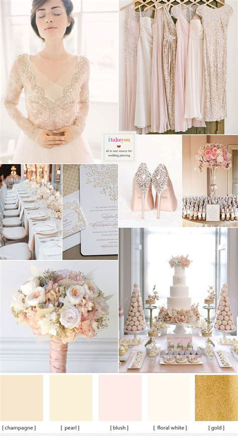 Champagne Wedding Theme with Blush Accents   Blush Wedding