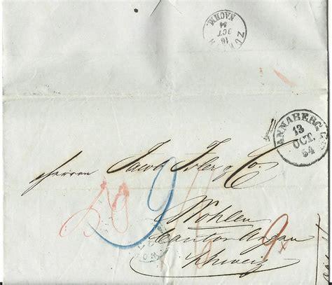 Brief Schweiz österreich Porto sachsen 1854 k1 annaberg auf porto brief i d schweiz ebay