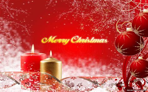 Merry christmas candles desktop wallpaper