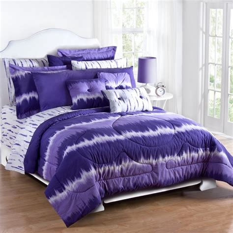 purple tie dye comforter set