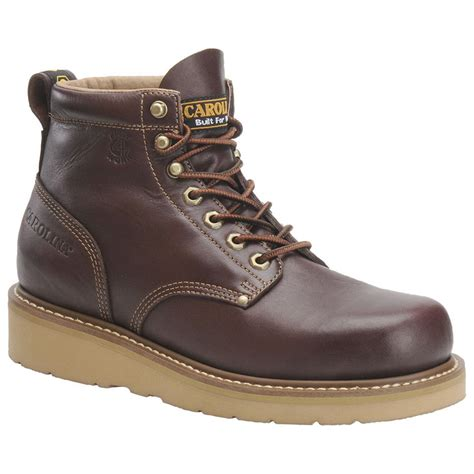 mens wedge boots s carolina 174 6 quot broad toe wedge boots 166222 work