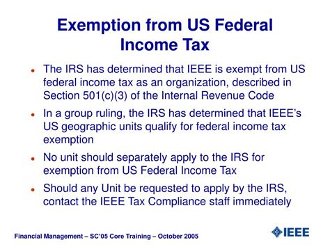 income tax exemptions in ppt financial management for geographic units ieee