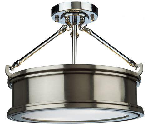 brushed chrome light fixtures light fixtures artcraft sc13042bn eastwick modern brushed chrome flush
