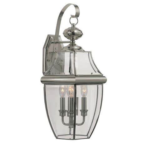 Bel Air Outdoor Lighting Bel Air Lighting Stewart 1 Light Brushed Nickel Outdoor Incandescent Wall Lantern 4330 Bn The