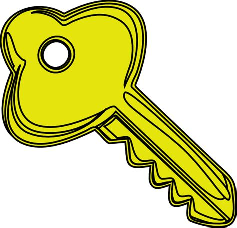 key clipart yellow key clip at clker vector clip