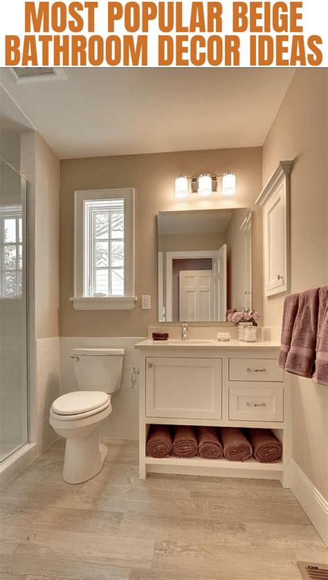 decorate  beige bathroom