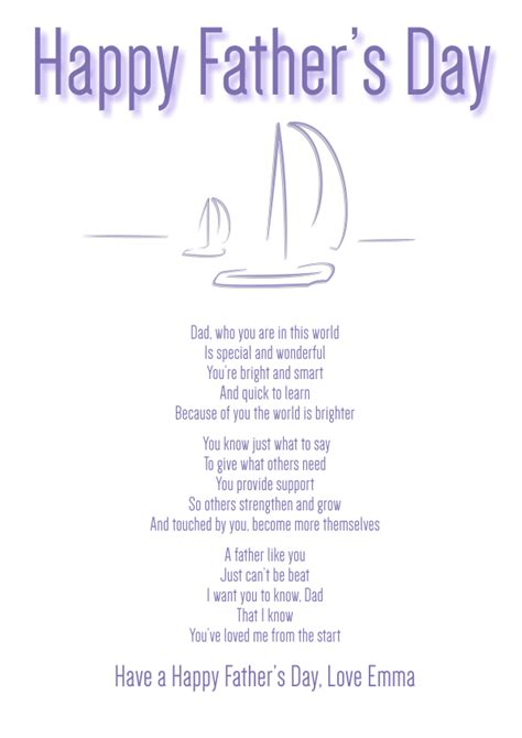 sentimental fathers day cards s poetry cards
