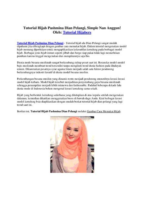 tutorial c ppt tutorial hijab pashmina dian pelangi simple nan anggun