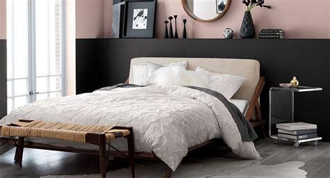 cb2 bedroom mid century bedroom drommen cb2