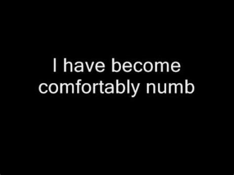 what is the song comfortably numb about pink floyd comfortably numb with lyrics youtube
