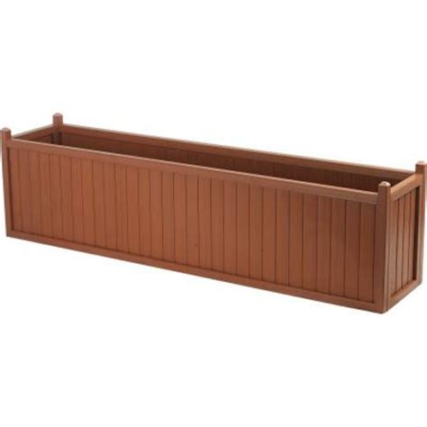 cal designs 69 in redwood planter discontinued wood851