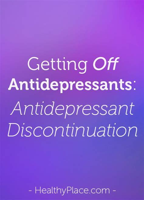 Antidepressant Detox Symptoms by When Abruptly Stopping Antidepressants Some Experience