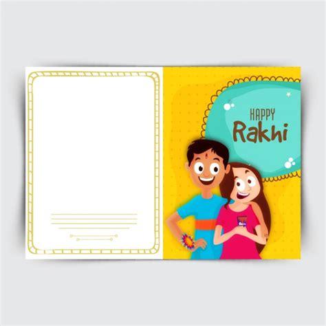 raksha bandhan card template greeting card for raksha bandhan vector premium