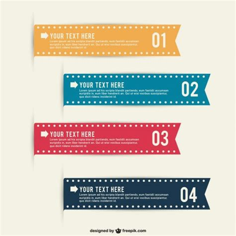 Editable Infographic Ribbons Vector Free Download Free Editable Infographic Templates