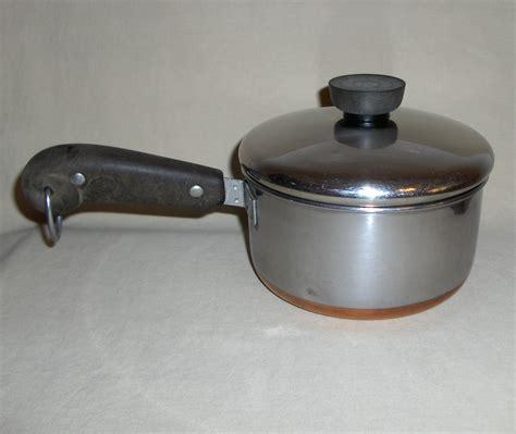1950 68 revere ware thick copper clad 1 quart saucepan