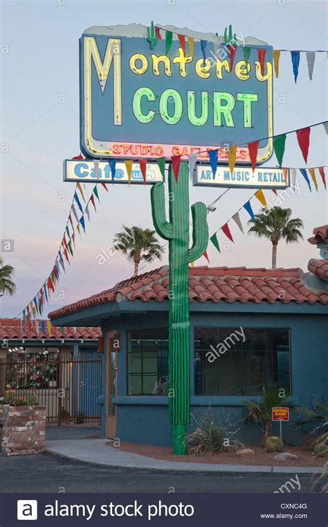 Monterey Court Search Monterey Court Motel On The Miracle Mile Tucson Arizona Stock Photo Royalty