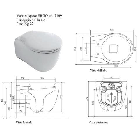 bidet 23 cm lochabstand galassia ergo sanitari sospesi vaso wc 7109 bidet 7110