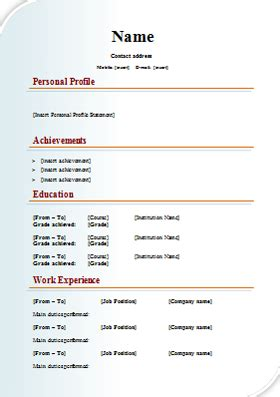 design cv template