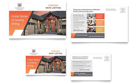 Postcard Templates Word Publisher Templates Real Estate Postcard Templates Word