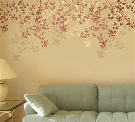 floral borders for living room wall stencils paint ideas wall stencil ideas for living room com on flower stencils