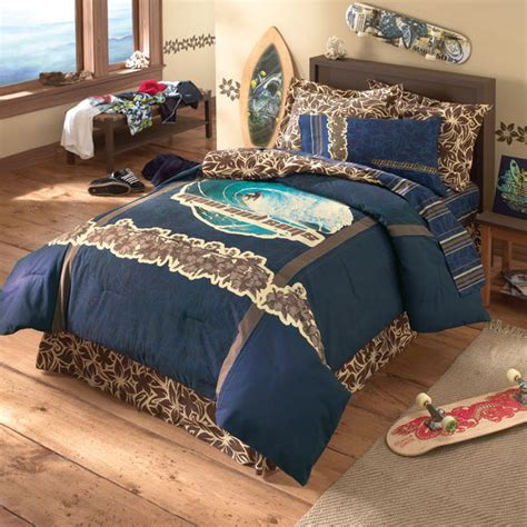 surfer comforter sets muzzle surf queen bed in a bag