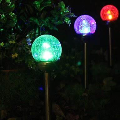 solar lights that change color set of 2 color changing solar crackle glass stake