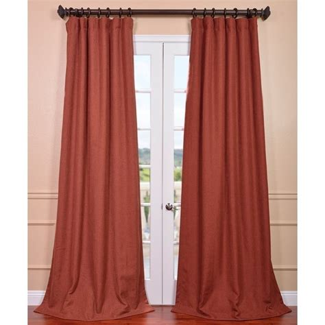 rust drapes exclusive fabrics rust linen weave curtain panel by