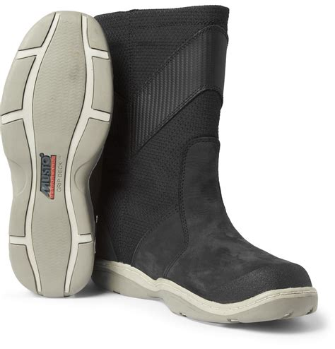 sailing boots musto sailing hpx leather and canvas sailing boots in