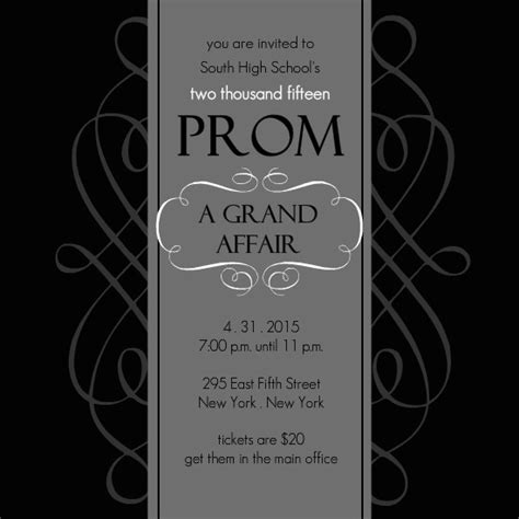 prom invitation ideas template best template collection