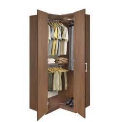 corner wardrobe corner closet w three hangrods