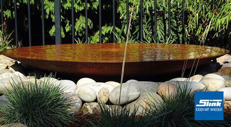 gartenbrunnen cortenstahl gartenbrunnen cortenstahl schale 80 kaufen