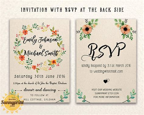 wedding invitations templates free online mini bridal