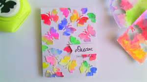 diy easy card making beginners kids water color butterflies