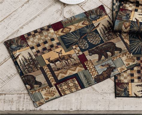 woodland cabin placemats set