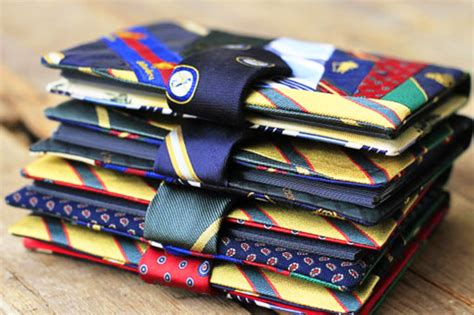 Upcycling Clothes Before And After - recycled tie photo album