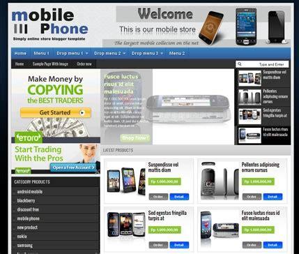 template toko online wordpress keren gratis template toko online blogspot gratis