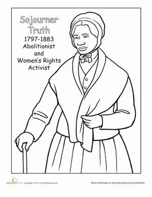 sojourner truth biography for middle school color sojourner truth worksheet education com