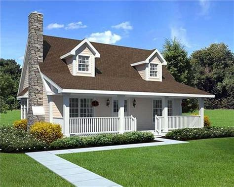 House Plans With Porch Across Front by Country Cape Cod House Plans Home Design Gar 34601 20164
