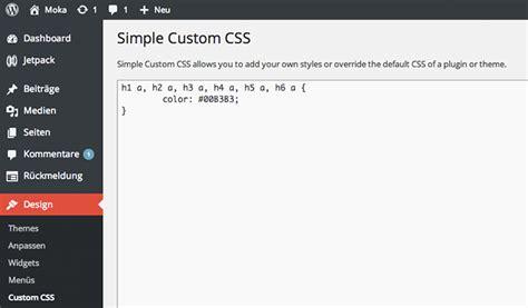 Handcrafted Css - eigenes css in ein theme integrieren so