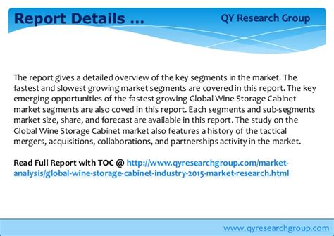 market wine cabinet global wine storage cabinet industry 2015 market research