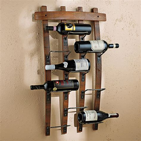 Wall Rack by Barrel Stave Wall Rack Wine Enthusiast