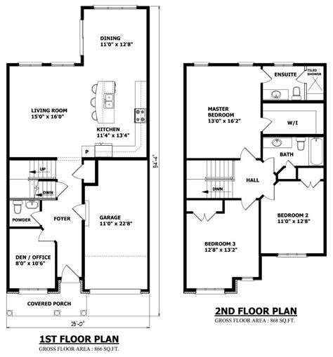 blueprints for houses free small 2 storey house plans pinteres